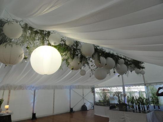 dcoration plafond dun barnum wedding centerpieccemariage - Barnum Mariage