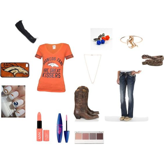 """""""GO BRONCOS!!!!"""" by mercedesandhoss on Polyvore"""