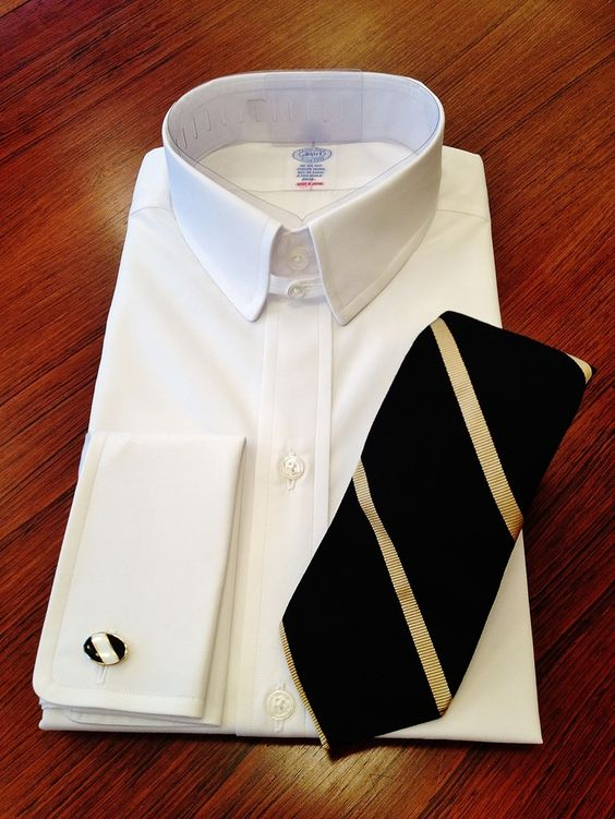 Tab Collar Shirt And Repp Tie Shirts Ties Pinterest