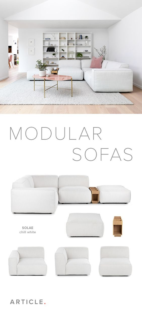 Solae Chill White Walnut Right Arm Corner Sectional In 2020 Modular Sofa Living Room Modern White Couch Couches For Small Spaces