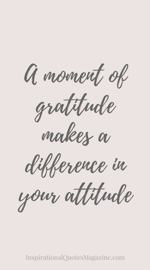 Inspirational Quote about Gratitude - Visit us at InspirationalQuotesMagazine.com for the best inspirational quotes!: