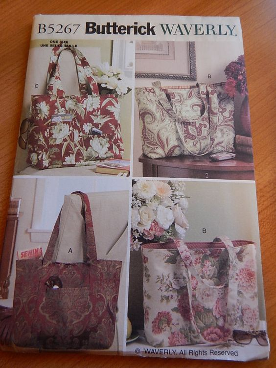 Butterick B5267 Waverly Tote Bags Sewing by NirvanaCraftSupply