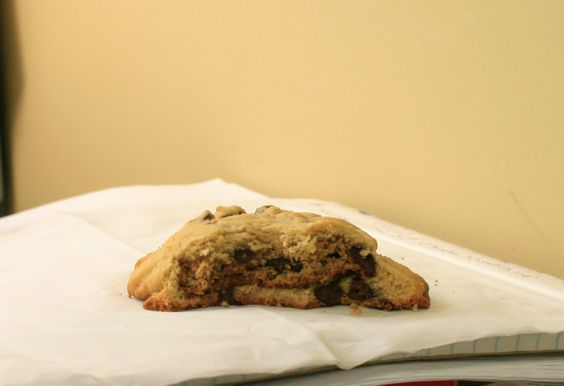 A Chips Ahoy! stuffed in a homemade chocolate chip cookie.