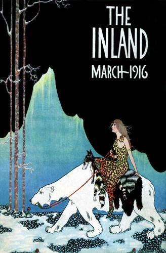 fa 1916 polar bear riding mountain iceland queen art deco. Black Bedroom Furniture Sets. Home Design Ideas