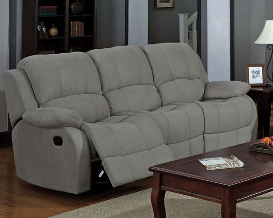 Grey Microfiber Reclining Sofa House Pinterest Reclining Sofa Sofas And Grey
