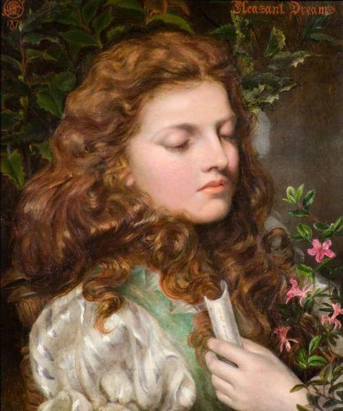 Emma Sandys (English, 1843-1877). Pleasant dreams