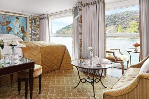 S.S. Catherine Suite on uniworld cruise. Watching the world go by your window.