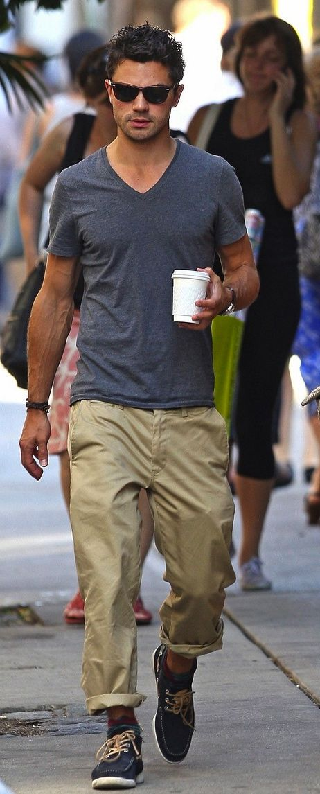 Dominic Cooper relaxed style