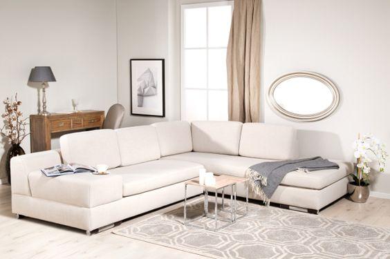 Salón blanco y crema