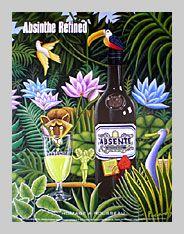 Absente Absinthe Refined art- Homage a Rousseau- by John Pacovsky