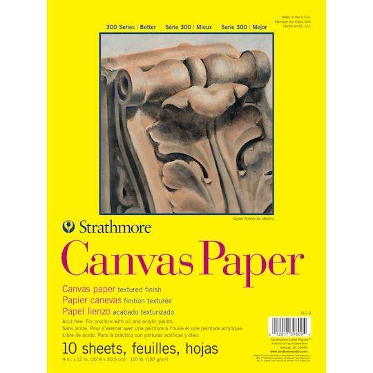 Strathmore 300 Series Canvas Pad Michaels Canvas Paper