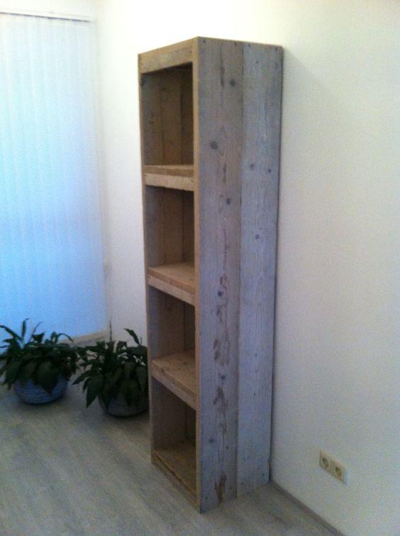 Open kast steigerhout  [ my house ]  Pinterest