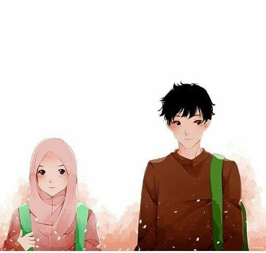 Muslim Couples Animated Madeeha Mughal Kartun Ilustrasi Karakter Gadis Animasi
