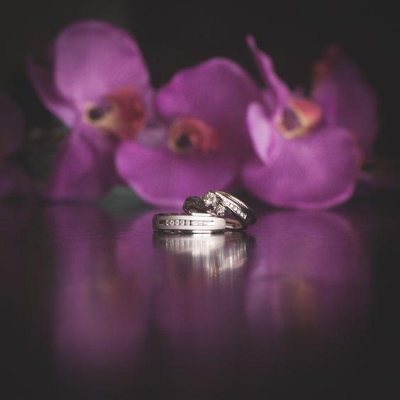 Photography of my wedding rings Photo taken by: Ambrogetti Ameztoy Studio http://weddingphotographypuntacana.com/