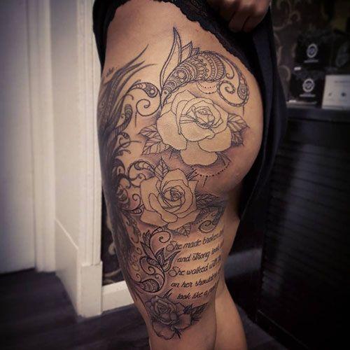 65 Badass Thigh Tattoo Ideas For Women Page 4 Of 6 Stayglam Upper Thigh Tattoos Inner Thigh Tattoos Thigh Tattoo