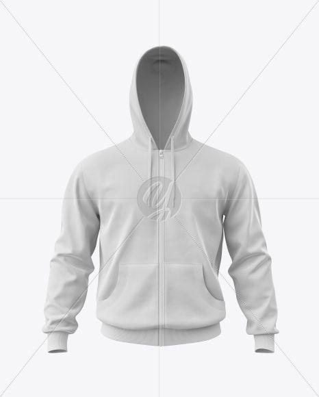 Download Men S Full Zip Hoodie Mockup In Apparel Mockups On Yellow Images Object Mockups Hoodie Mockup Clothing Mockup Full Zip Hoodie
