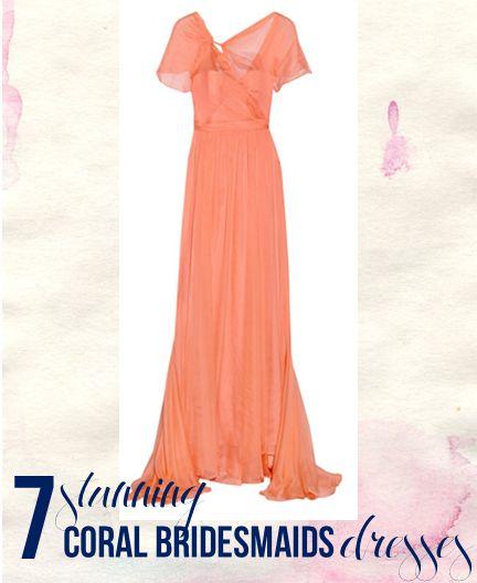 7 Stunning Coral Bridesmaid Dresses