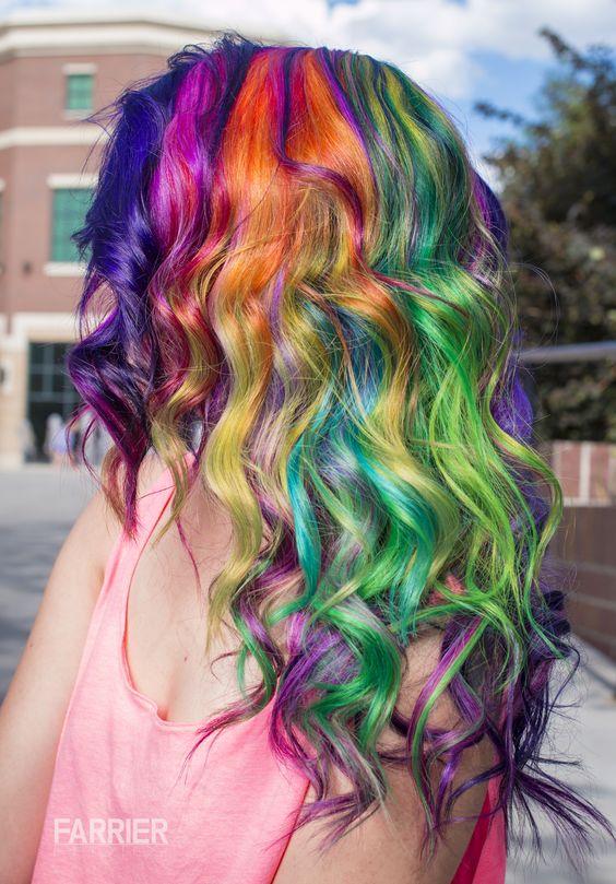 #colorful #rainbow #hair