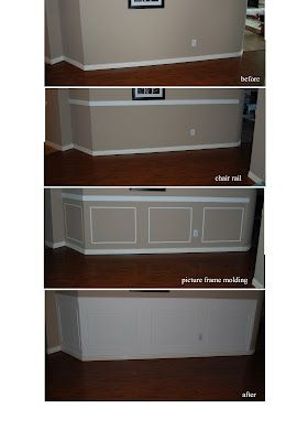 smart and easy: wainscoting walls out of picture frame moldings!