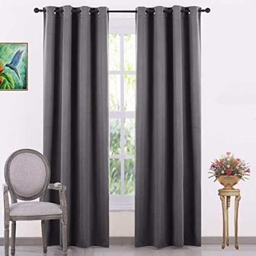 Buy Jupon Silk Blackout Curtain Pack Of 1 Piece With 3 Layers Weaving Technology Solid Grom With Images Grey Home Decor Curtains With Blinds Curtains Window Treatments