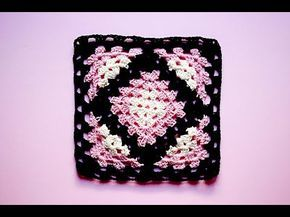 Cuadro, gramy square, kalidoscopio a crochet #tutorial #pasoapaso - YouTube