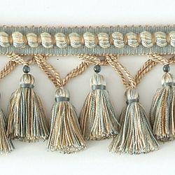 "DECORATIVE TRIM 3 1/4"" TASSEL FRINGE W/ GLASS BEAD AZU 287683: Bead Azu, Color, Glass Beads"