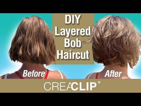 Diy Layered Bob Haircut Live On Beach Youtube In 2020 Frisuren