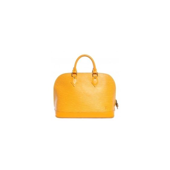 Shop Discounted: Authentic Pre Owned Luxury Handbags, Discount... ❤ liked on Polyvore featuring bags, handbags, purse bag, yellow purse, hand bags, preowned handbags and yellow bag