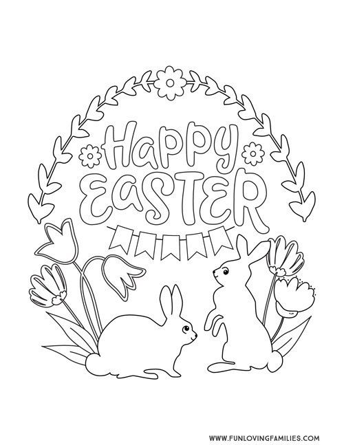 9 Easter Coloring Pages For Kids Free Printables Fun Loving Families In 2020 Bunny Coloring Pages Cute Coloring Pages Easter Coloring Pages