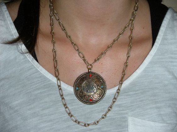 double sided vintage necklace available at Michele Lee Designs (see more on Facebook!)