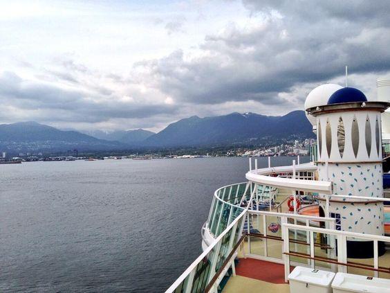 Radiance of the Seas setting sail for Alaska.