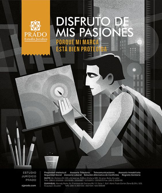 Law Firm campaign using illustrations on Behance