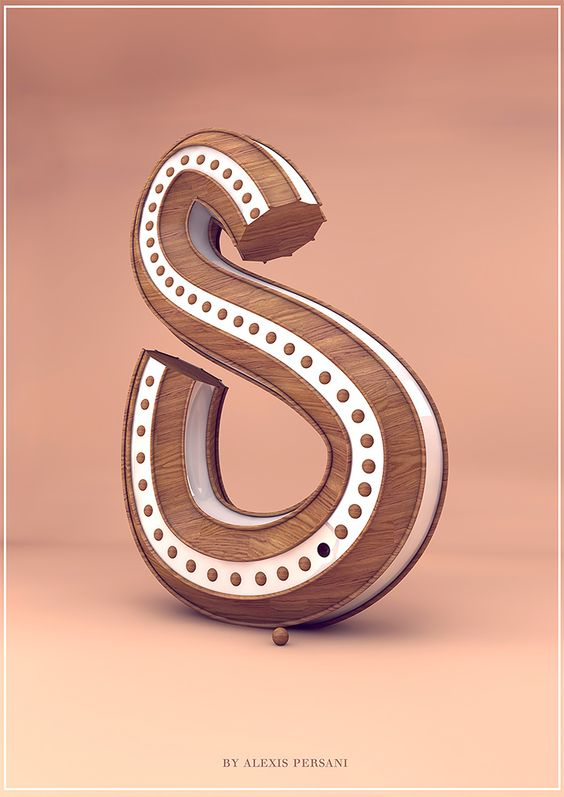 3D Typography by Alexis Persani