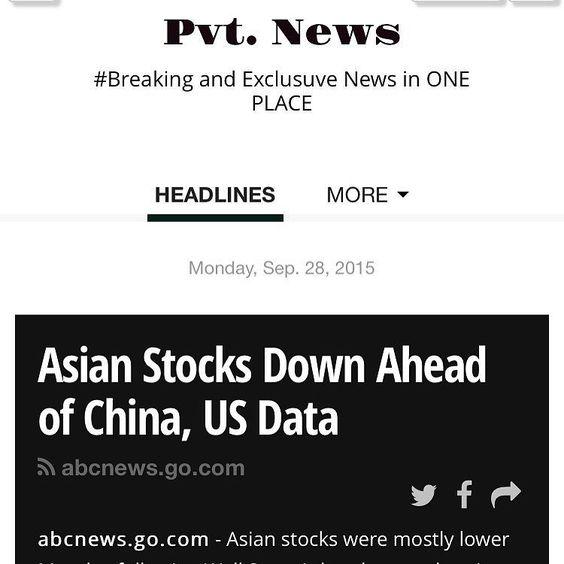 #Asian Stocks Down ahead of #China #USA t.co/8zY1RzwmVj #PvtNews