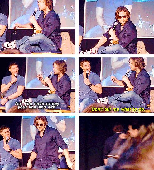 [gifset] Jared reenacts putting on sunglasses CSI style, then sashays of stage #JibCon11