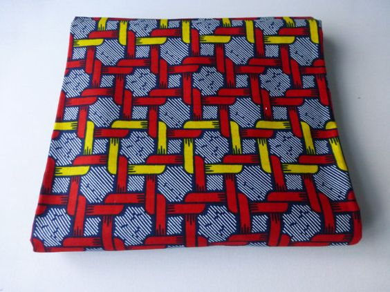African Fabric Dutch Cotton Wax Print  Sold By FAT QUARTER kitenge2012 via Etsy