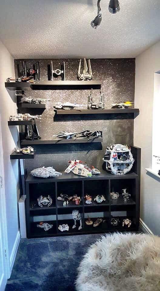 Lego Display Star Wars Bedroom Decor Star Wars Bedroom Star