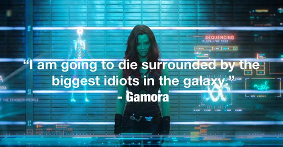 Guardians Of The Galaxy - Gamora. I took a 'What GotG character are you?' and I got her. We are one and the same.