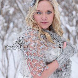 Horgolt esküvői vállkendő 5 Crocheted bridal shawl,shrag 5