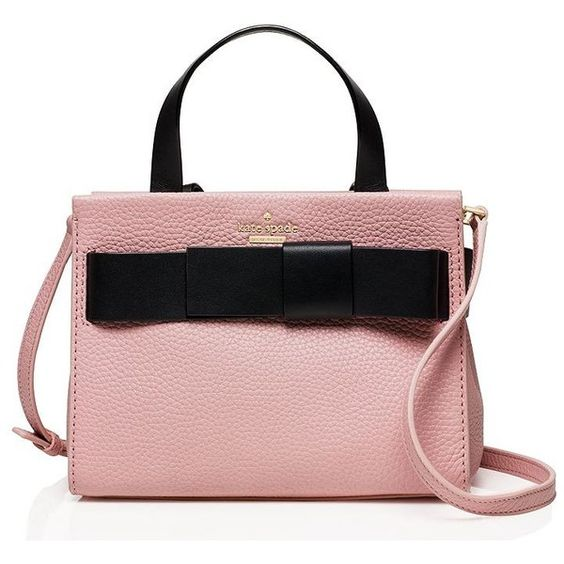 Kate Spade Poplar Street Small Shelley (12515 TWD) ❤ liked on Polyvore featuring bags, handbags, satchels, kate spade, bow handbag, zip top bag, kate spade satchel and bow purse