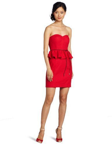 aryn K Women's Peplum Ruffle Waist Dress, Red, X-Small Aryn K, http://www.amazon.com/dp/B007HWN6K0/ref=cm_sw_r_pi_dp_xOfbqb1AGK674