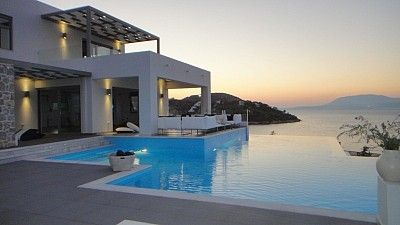 Beachfront villa in Greece