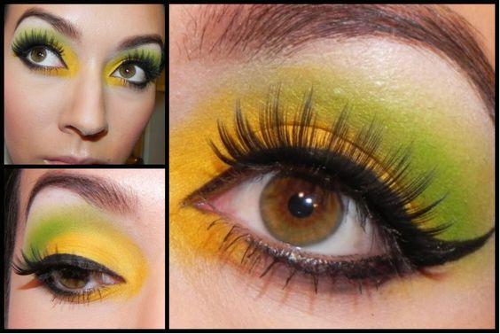 maquillaje verde - Buscar con Google