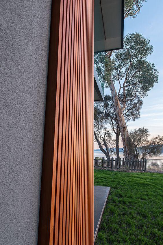 'Chilled Form' - HIA-CSR Award Winning Home in Tasmania #UrbanlineArchitectural #UrbanlineAustralia #Architecture #InstyleDecking #Decking #WesternRedCedar #Timber #Walling #ContemporaryDesign