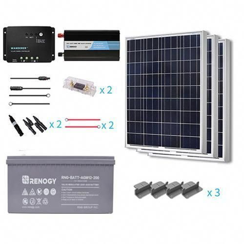 Order The 300w 12v Solar Starter Kit From Renogy You Ll Get Clean Reliable Power While Off Gri In 2020 Solar Energy Panels Best Solar Panels Solar Panel Installation
