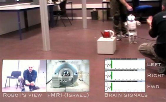 Cientista controla robô com a mente