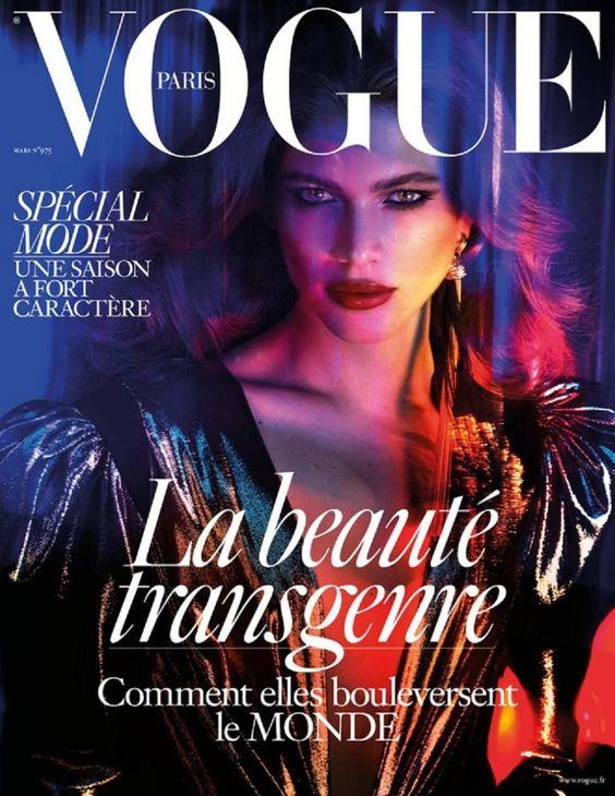 La portada de Vogue París donde salió Valentina Sampaio