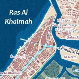 Ras Al Khaimah Map UAE Pinterest Uae