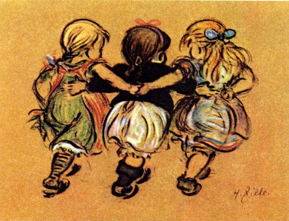 Heinrich Zille, drei Kinder