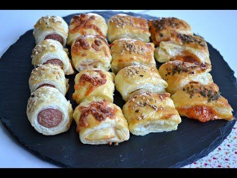 Canapes para fiestas 4 Faciles, rapidos y baratos - Recetas de Cocina por Chef de mi Casa.com - YouTube